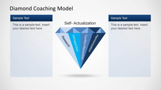 Diamond Shape for PowerPoint and Coaching Model