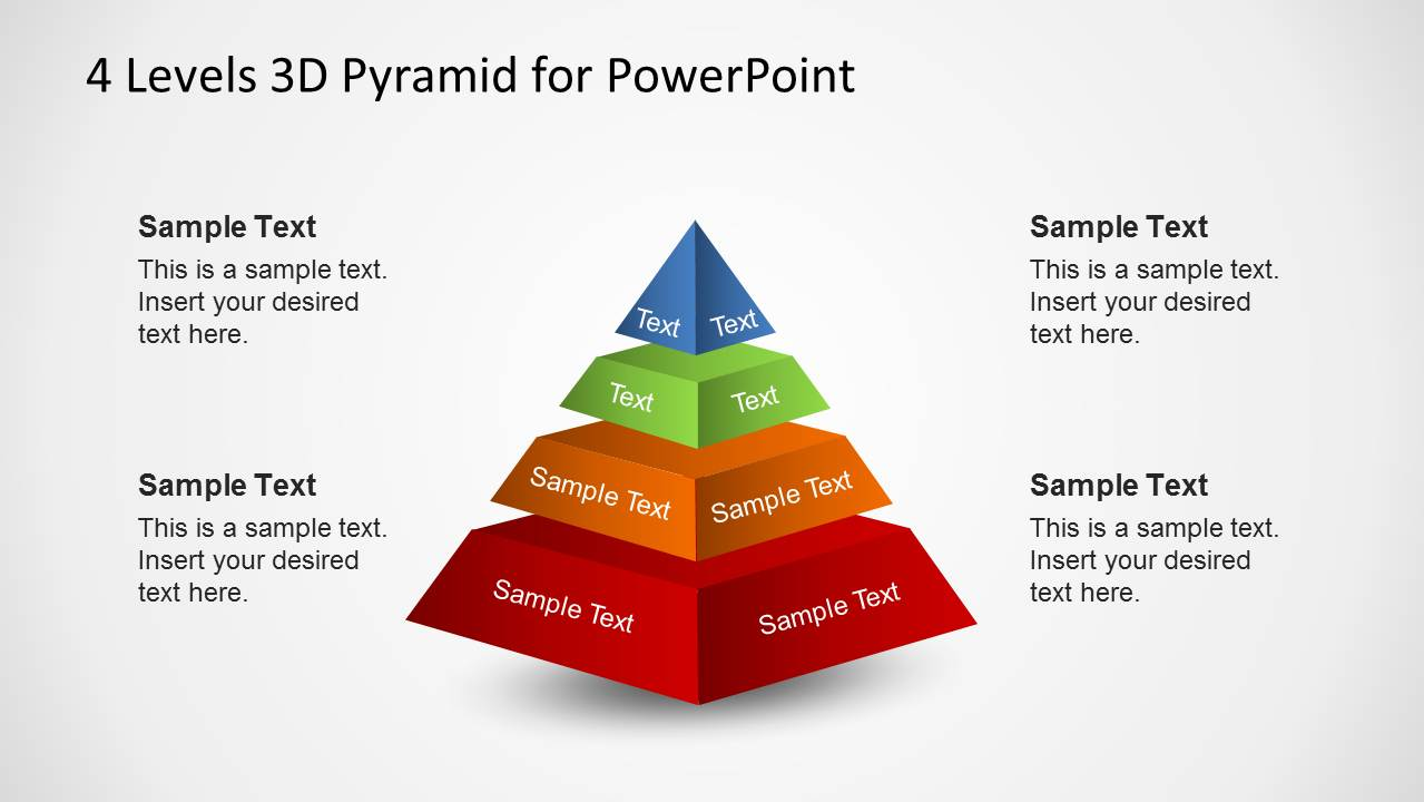 4 levels 3d pyramid template for powerpoint slidemodel 4 layers 3d powerpoint pyramid diagram ccuart Images
