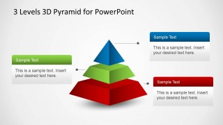 3 levels 3d pyramid template for powerpoint slidemodel
