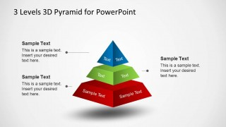 3D Pyramid Diagram Diagram with Spacing for PowerPoint