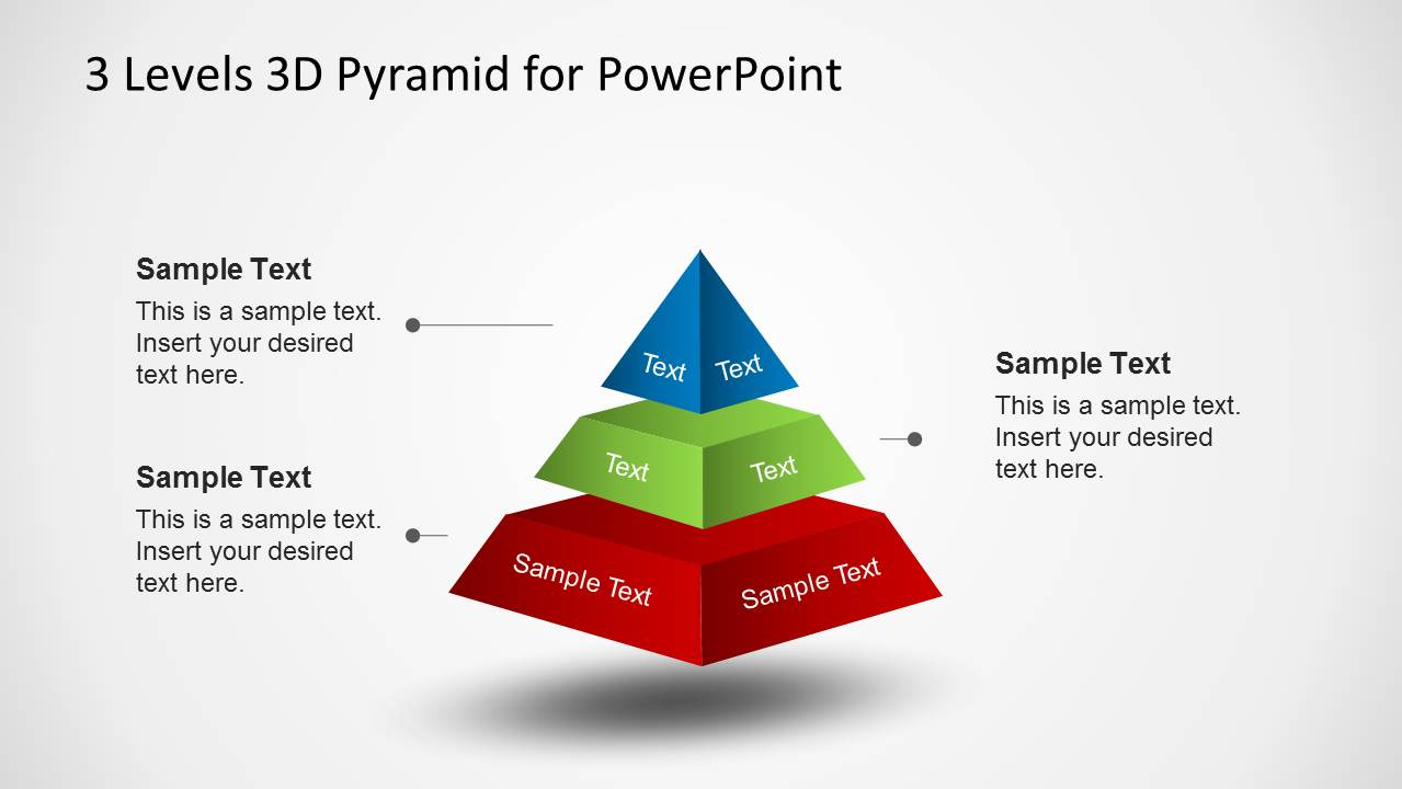 3 levels 3d pyramid template for powerpoint slidemodel 3d pyramid diagram diagram with spacing for powerpoint ccuart Gallery