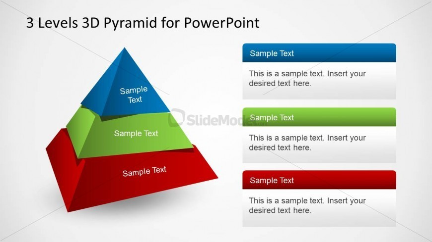 3D Pyramid Design Template for PowerPoint