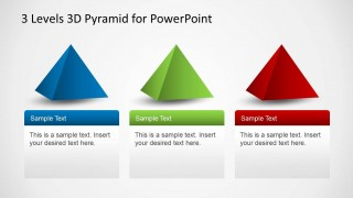 3 levels 3d pyramid template for powerpoint - slidemodel, Presentation Pyramid Template, Presentation templates