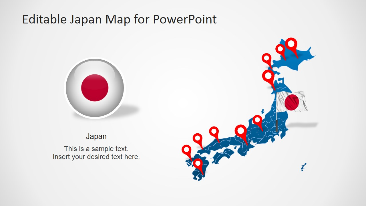 Japan Map Slide with States for PowerPoint