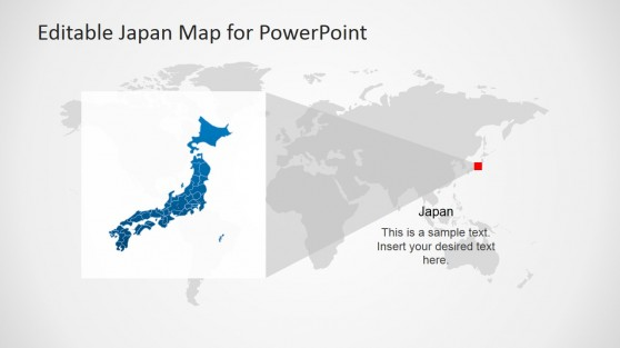 Editable Map of Japan Slide Design
