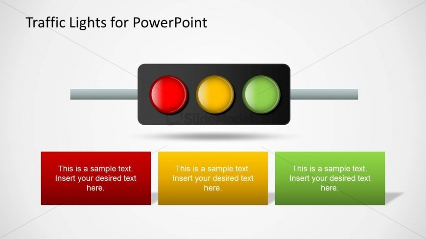 Horizontal Traffic Lights Shape for PowerPoint
