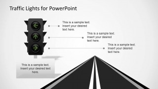 Arrows in Traffic Lights and Road Slide Design for PowerPoint