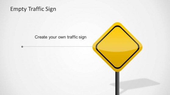 Customizable Yellow Traffic Sign