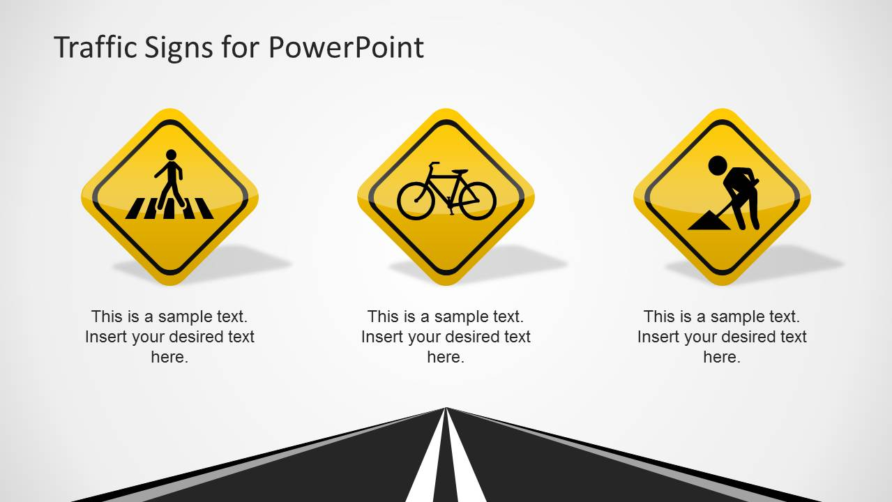 Traffic Signs Template For Powerpoint
