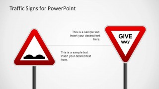 PowerPoint Triangular Red Traffic Signs