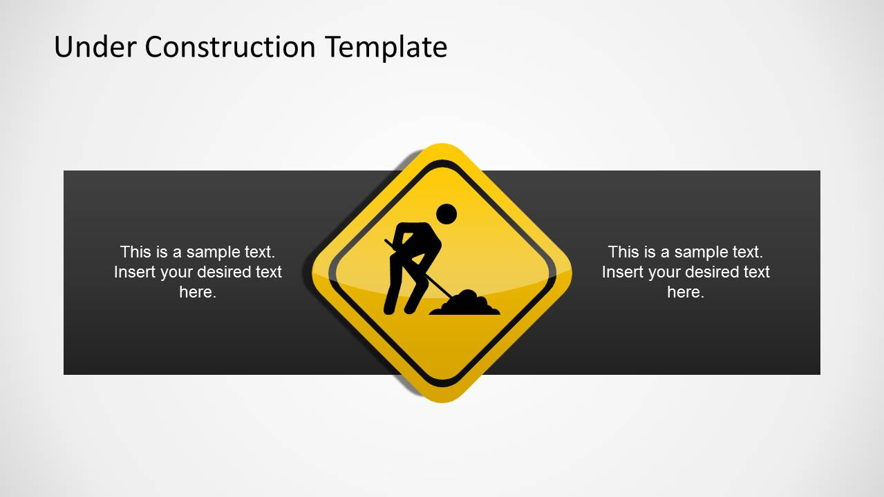 People Working Sign Template for PowerPoint