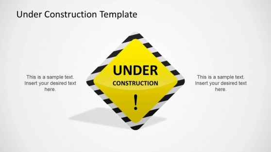 Under Construction Yellow Sign Illustration
