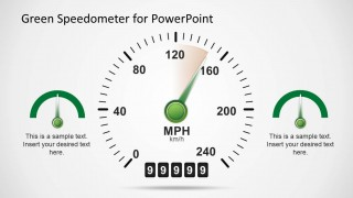 Green Speedometer PowerPoint Slide Design