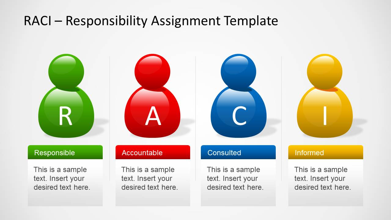 Raci powerpoint template slidemodel raci template for powerpoint with avatars alramifo Choice Image