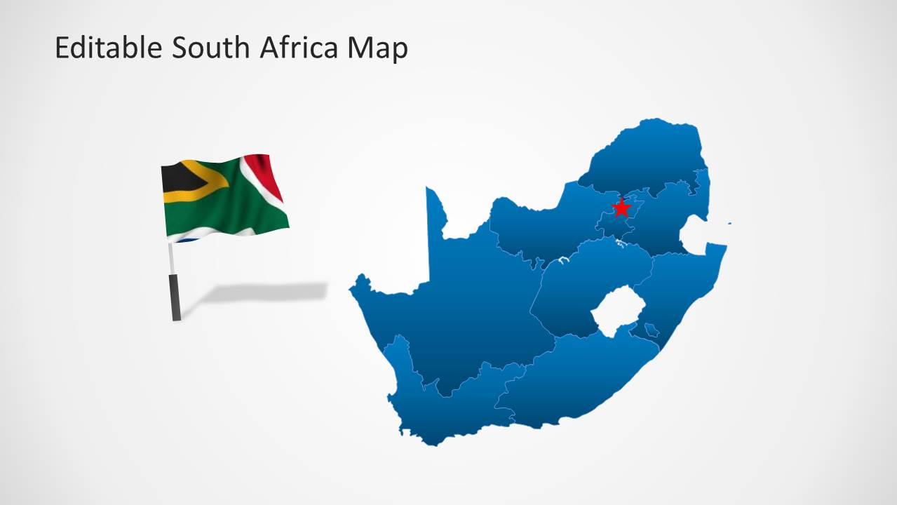 south africa map template for powerpoint
