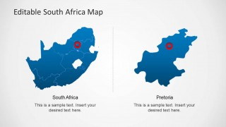 South africa map template for powerpoint slidemodel south africa map template for powerpoint provides a complete map of the beautiful african country with useful clipart images like the flag of the republic toneelgroepblik Gallery