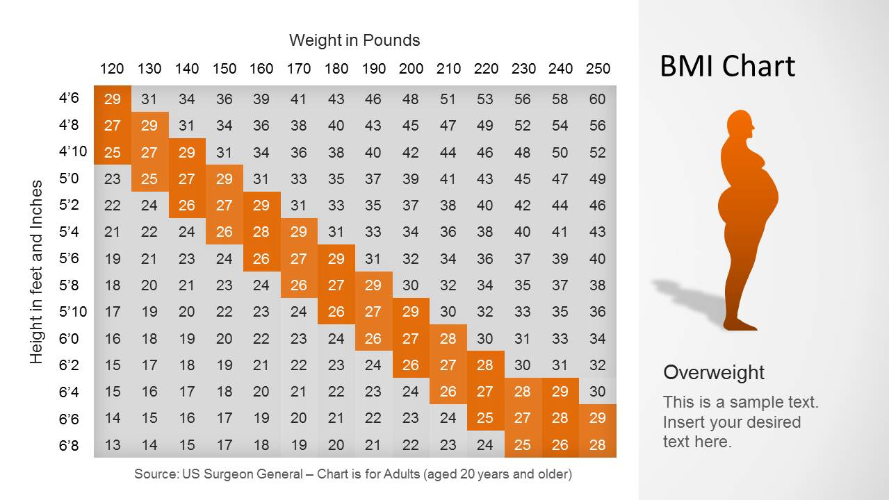 BMI Chart Template for PowerPoint - SlideModel