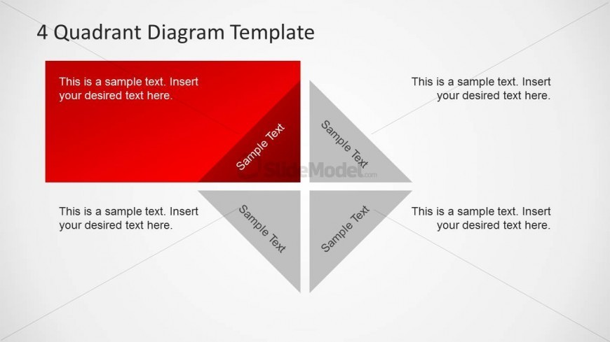 quadrant diagram template    slidemodel       quadrant diagram template