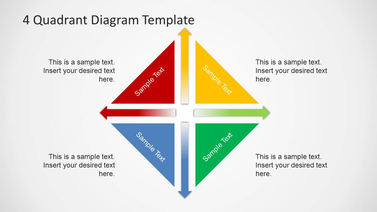 quadrants diagram template for powerpoint   slidemodel