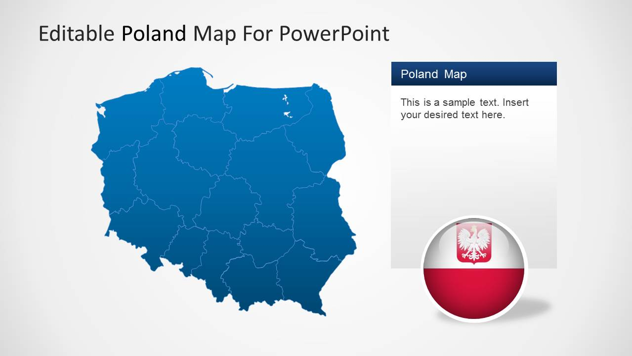 editable poland map template for powerpoint