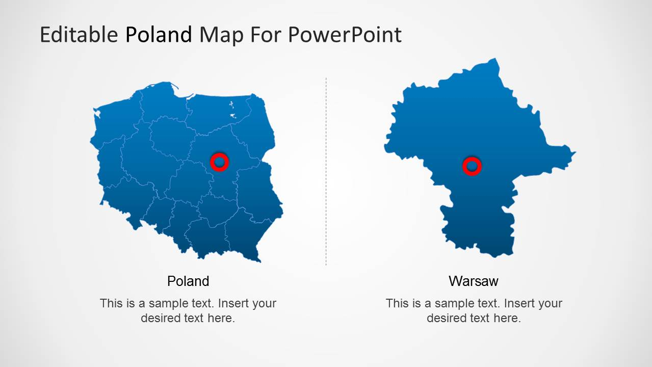 Editable Poland Map Template For Powerpoint Slidemodel
