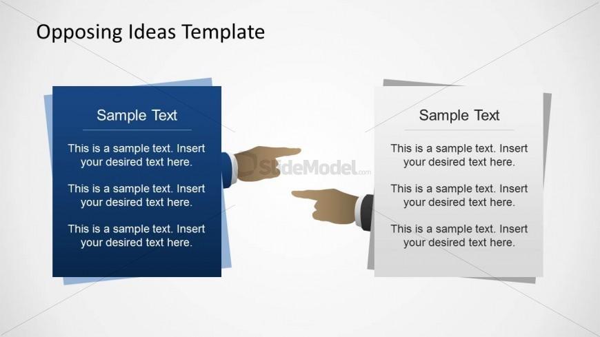 6355 01 Opposing Ideas Diagram 1 Slidemodel