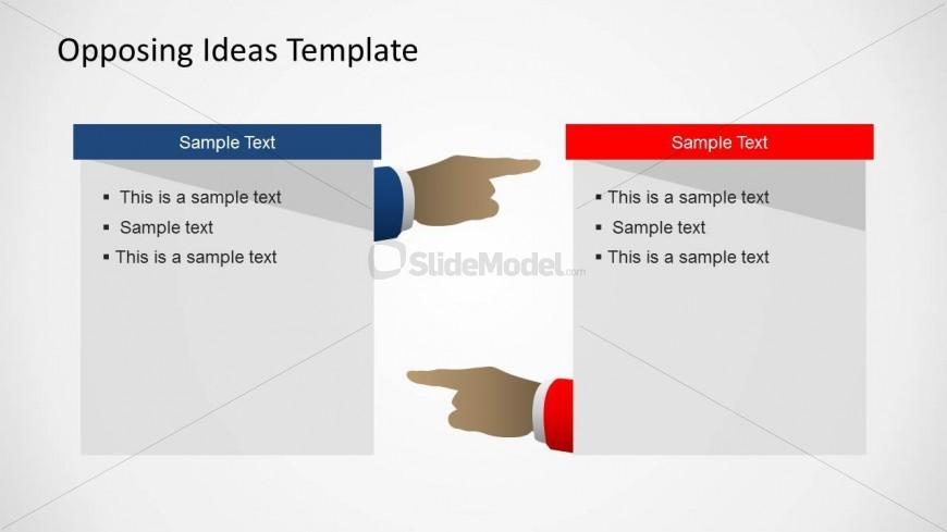 6355 01 opposing ideas diagram 2 slidemodel