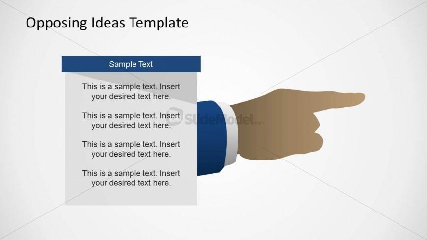 6355 01 Opposing Ideas Diagram 4 Slidemodel