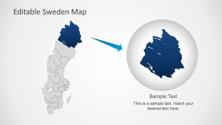 Editable Sweden Map Template For PowerPoint SlideModel - Sweden map template
