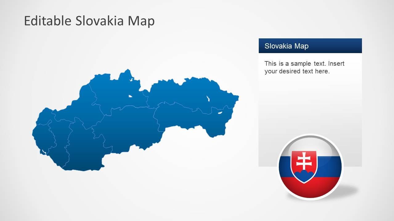 Picture of: Editable Slovakia Map Template For Powerpoint Slidemodel