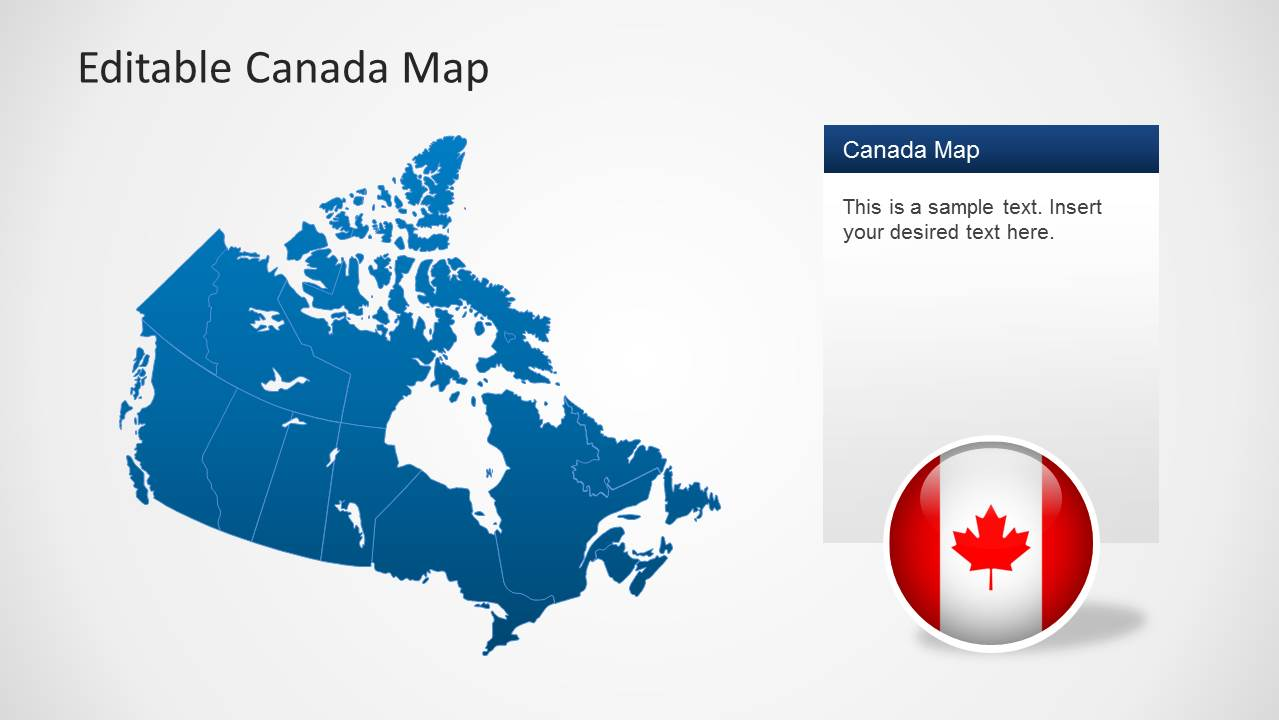 Editable Canada Map Template for PowerPoint