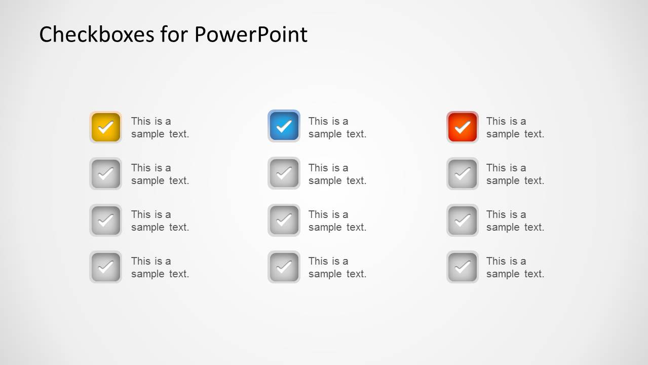 checkboxes template for powerpoint