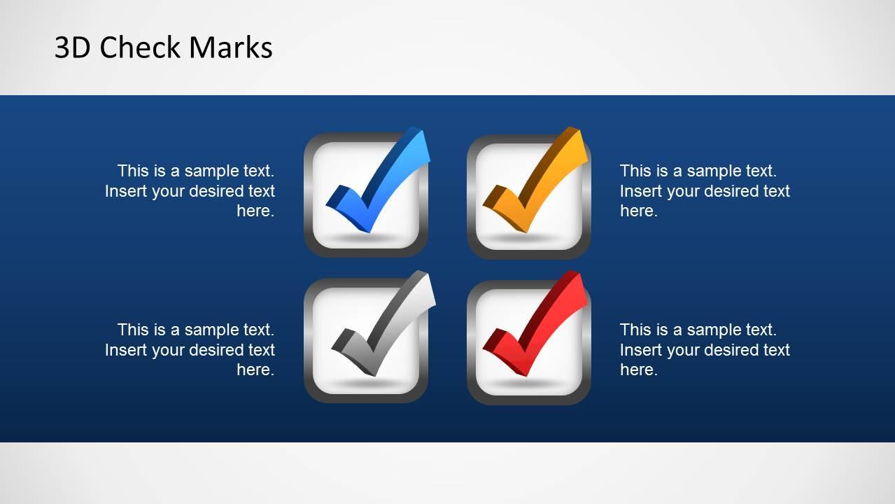 3d Check Marks Template For Powerpoint Slidemodel