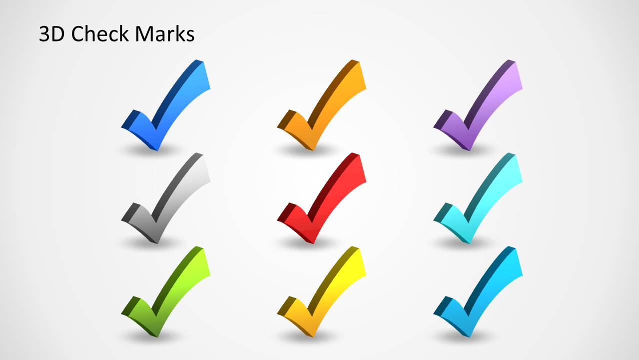 3d Check Marks Template For Powerpoint Slidemodel