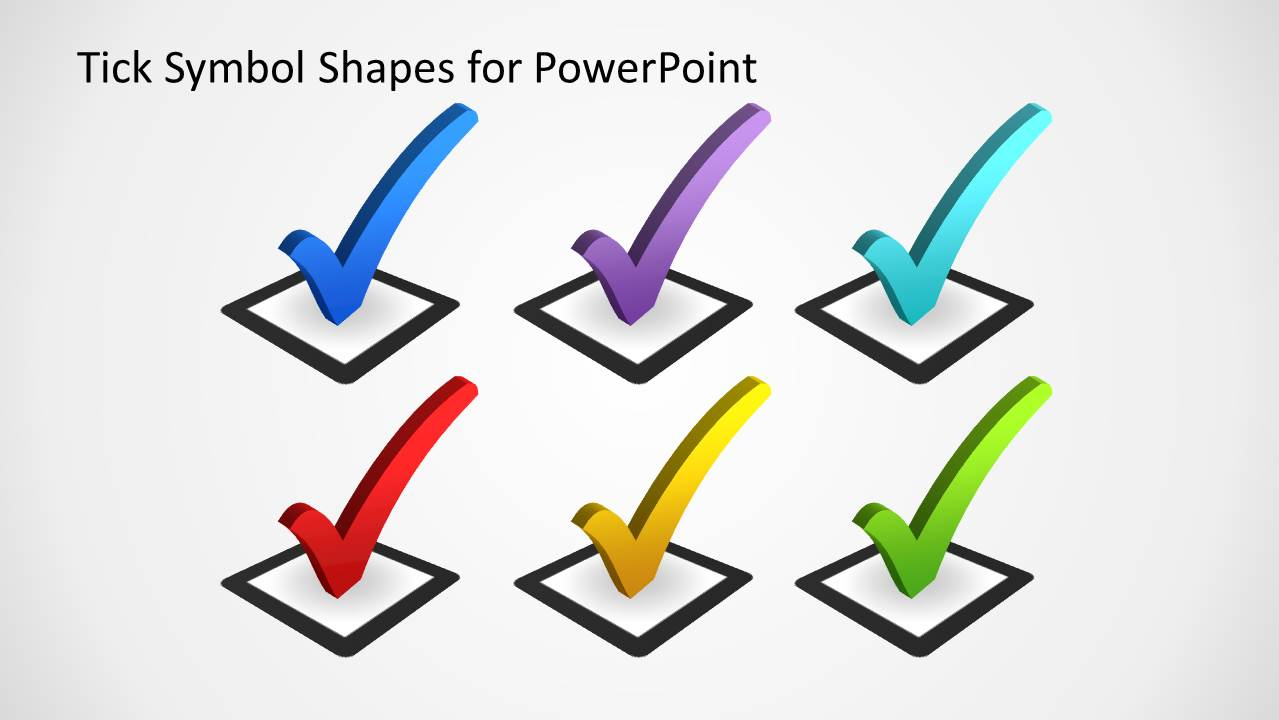 Tick Symbol Shapes For Powerpoint Slidemodel