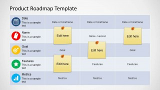 Roadmap Table Design for PowerPoint