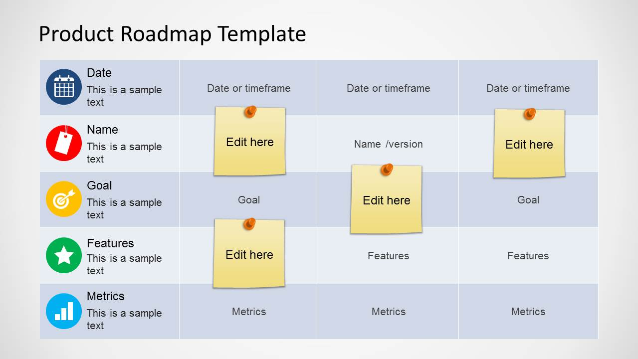 Product Roadmap Template For PowerPoint SlideModel - Roadmap template excel