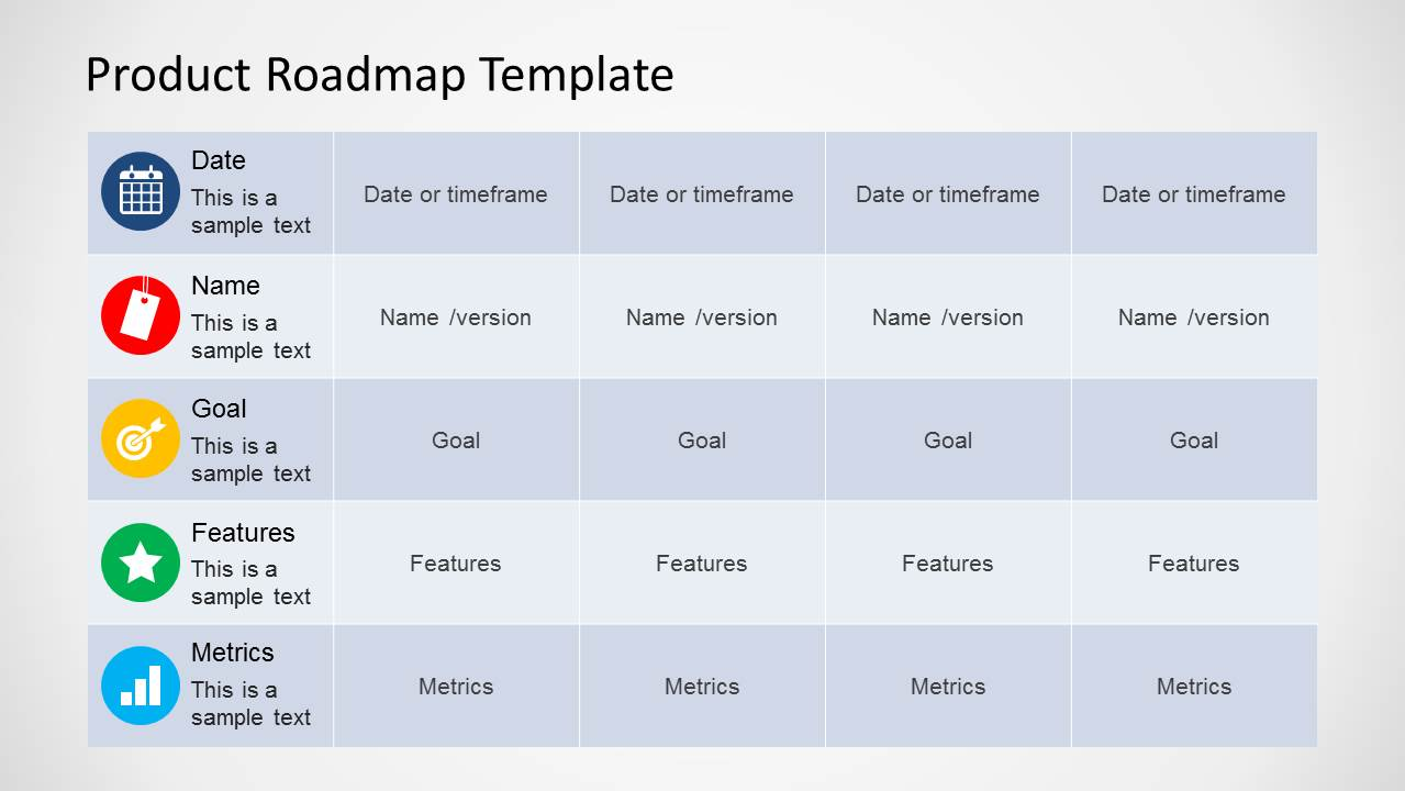 Product Roadmap Template for PowerPoint SlideModel – Roadmap Templates