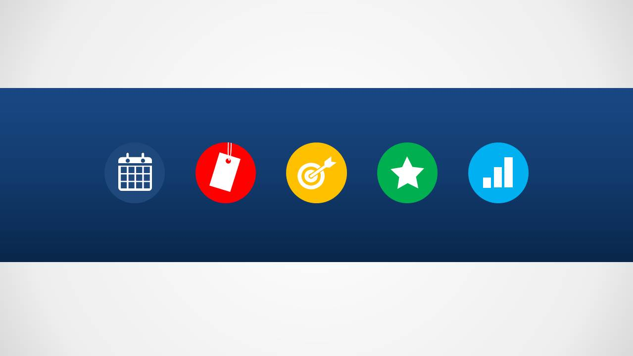Product Roadmap Slide Design with Icons