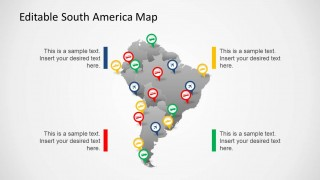 South america map template for powerpoint slidemodel the south america map template for powerpoint provides a complete map for south america with the option to single out individual south american countries toneelgroepblik Image collections