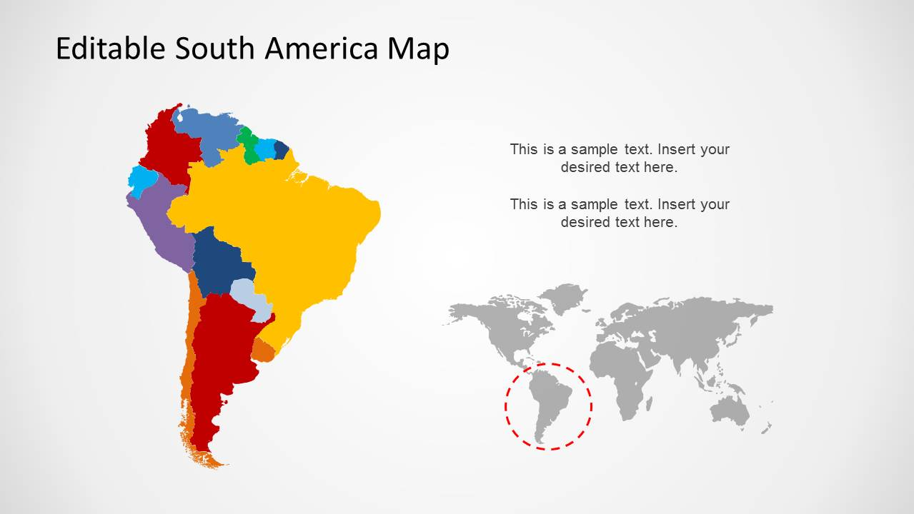 south america map template for powerpoint slidemodel
