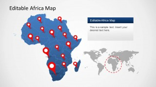 PowerPoint Map of Africa Continent