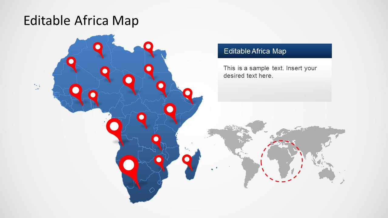 Africa Map Template for PowerPoint   SlideModel