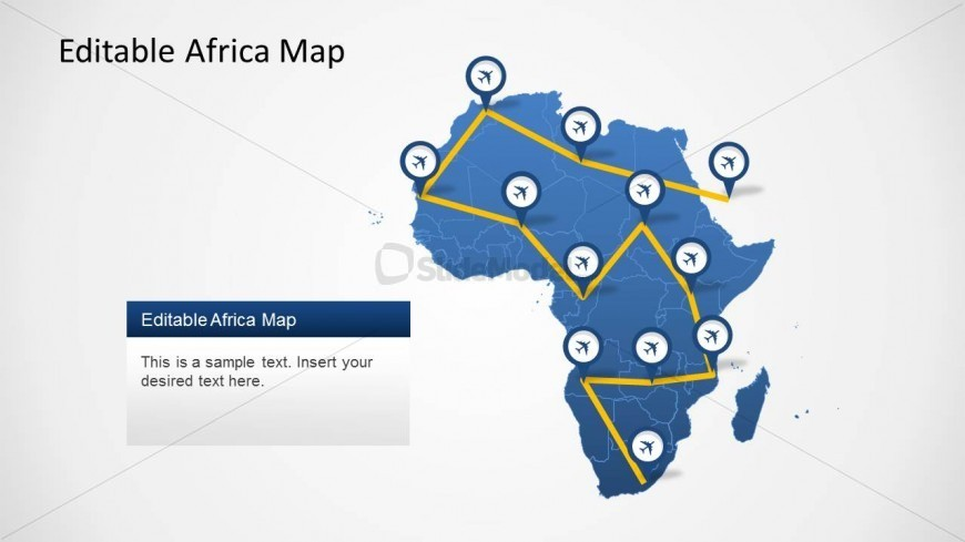 Editable PowerPoint Map of Africa