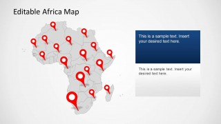 PowerPoint Template of Africa Political Outline Map