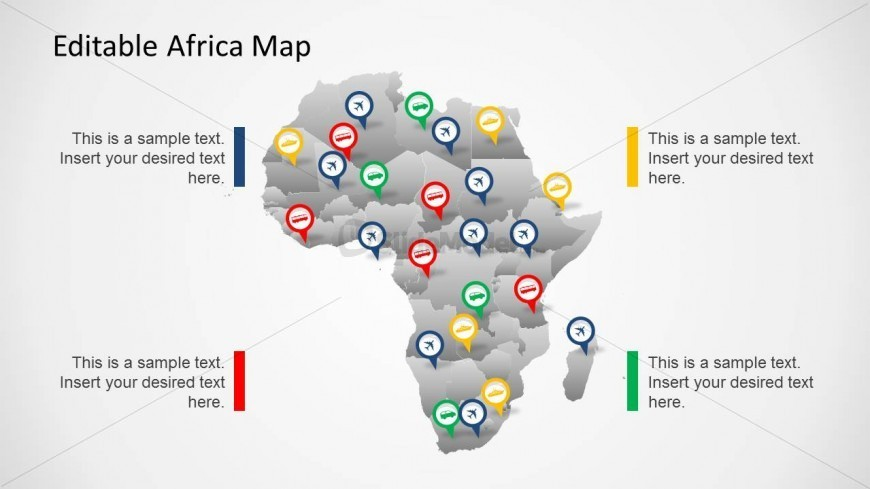 PowerPoint Template of Africa Continent