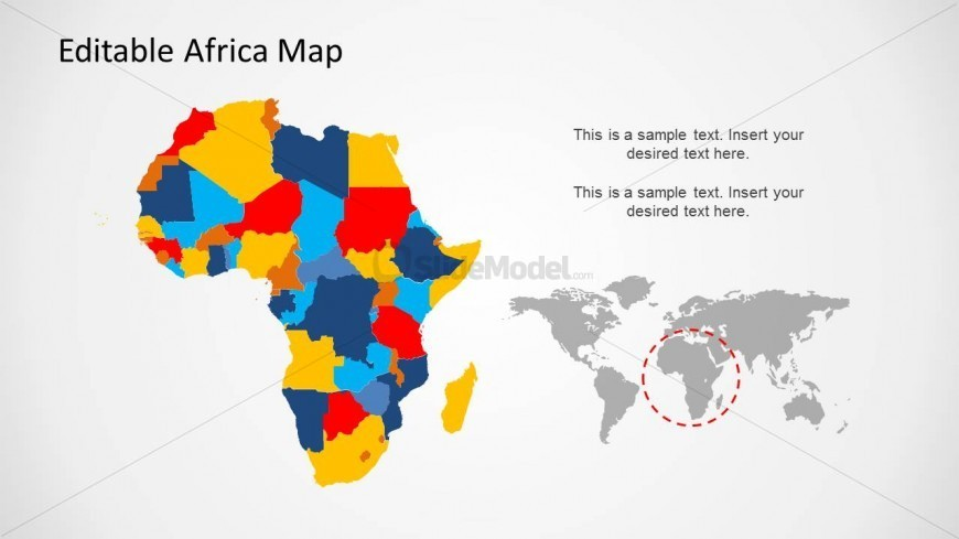 africa map ppt templates