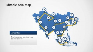 PowerPoint Template of Asia Map Continent