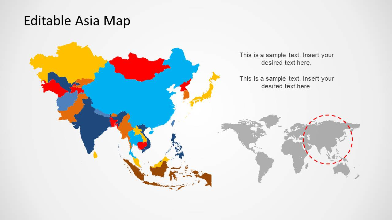Asia Map Template For Powerpoint Slidemodel
