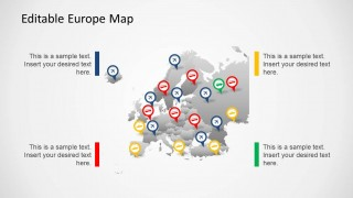 Editable PowerPoint Europe Map
